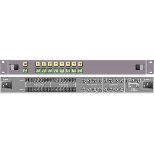 Link Electronics 8 x 8 Analog Video Routing Switcher with Stereo Audio