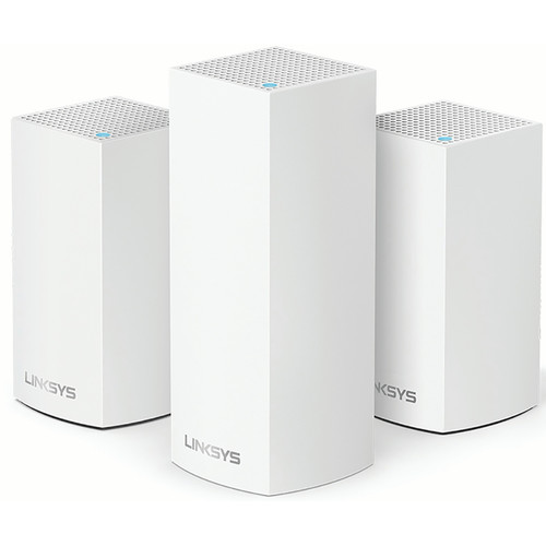 Linksys Velop Wireless AC-4800 Tri-Band Whole Home Mesh Wi-Fi System (3 Units, White)