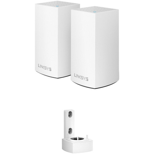 Linksys Velop Wireless AC-2600 Dual-Band Whole-Home Mesh Wi-Fi System with Wall Mount Kit
