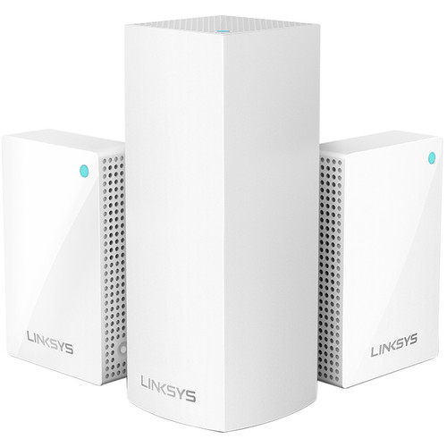 Linksys Velop AC4800 Tri-Band Whole Home Mesh Wi-Fi System with Plug-Ins (3-Pack)