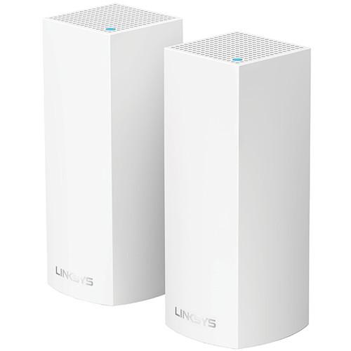 Linksys Velop Wireless AC-4400 Tri-Band Whole Home Mesh Wi-Fi System (2 Units, White)