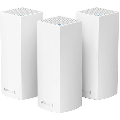 Linksys Velop Wireless AC-6600 Tri-Band Whole Home Mesh Wi-Fi System (3 Units, White)