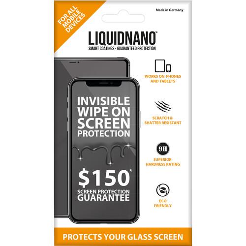 LiquidNano LIQUIDNANO Ultimate Screen Protector for Smartphones with $150 Assurance