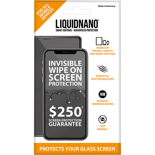 LiquidNano Ultimate Screen Protector for Smartphones with $250 Assurance