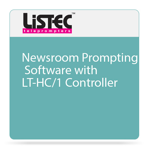 Listec Teleprompters Newsroom Prompting Software with LT-HC/1 Controller