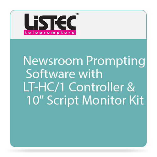 "Listec Teleprompters Newsroom Prompting Software with LT-HC/1 Controller & 10"" Script Monitor Kit"