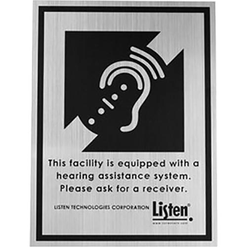 Listen Technologies LA-304 Hard Plaque Assistive Listening Notification Signage Kit