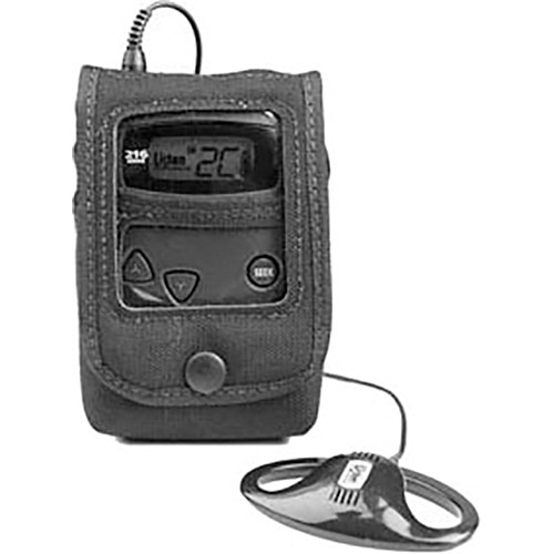 Listen Technologies LA-319 Protective Pouch for Portable RF Products (Black)