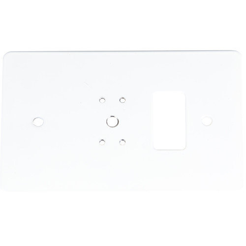 Listen Technologies Single Gang Wall-Box Mounting Plate (White)