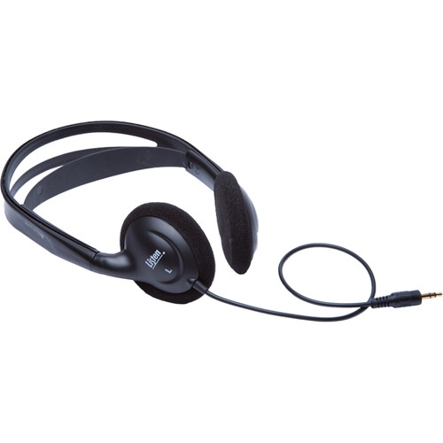 Listen Technologies LA-402 Universal Stereo Headphones (Dark Gray)