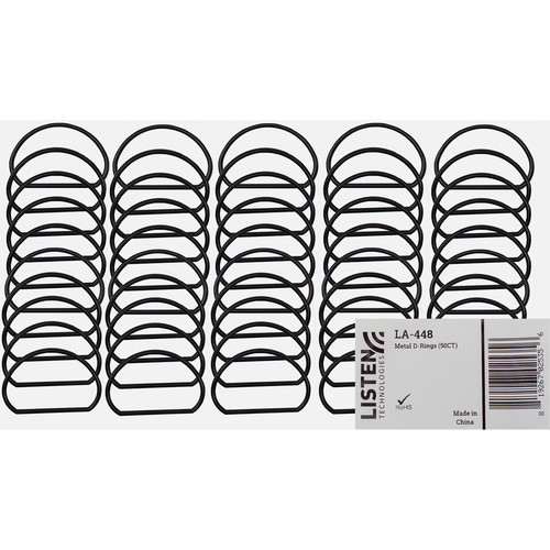 Listen Technologies Metal D-Rings (50 Count)