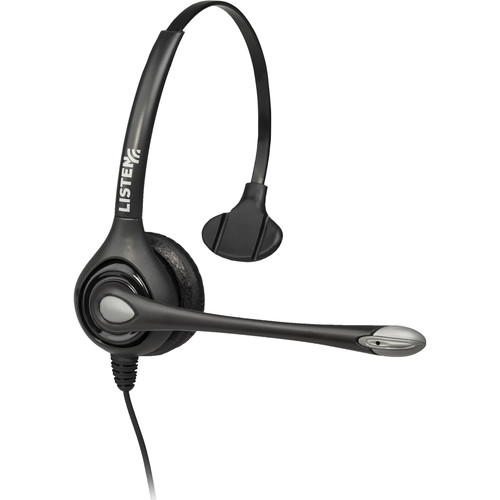 Listen Technologies LA-452 On-Ear Headset with Boom Mic (Single-Ear)
