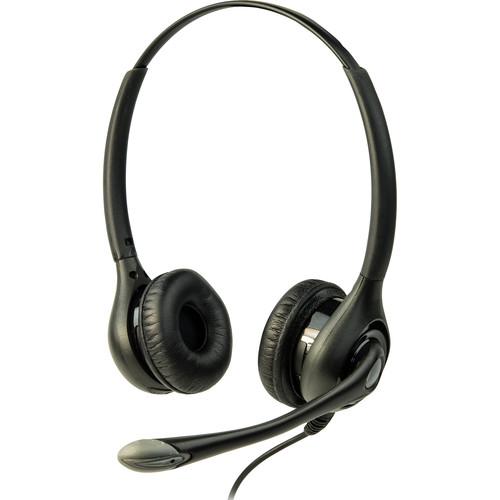 Listen Technologies LA-453 On-Ear Headset with Boom Mic (Dual-Ear)