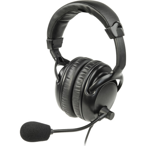 Listen Technologies LA-454 Dual Over-Ear Headset with Noise-Cancelling Boom Mic