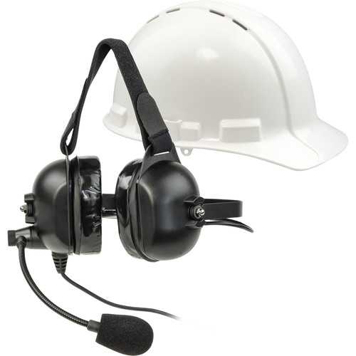 Listen Technologies ListenTALK Over-Ear Industrial Headset 5 with Boom Microphone
