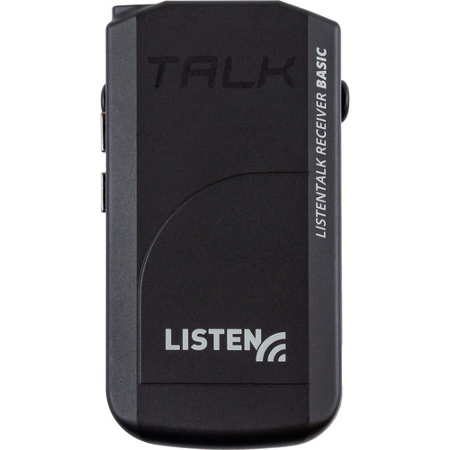 Listen Technologies ListenTALK Receiver Basic (Includes Li-Ion Battery, Lanyard, Ear Speaker)
