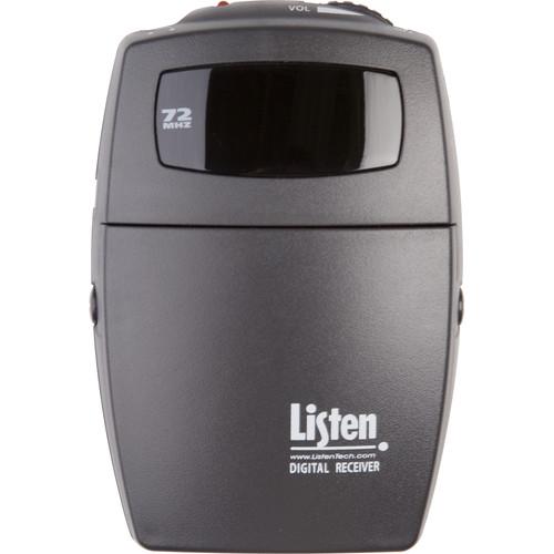 Listen Technologies Portable Digital RF Receiver 72 MHz