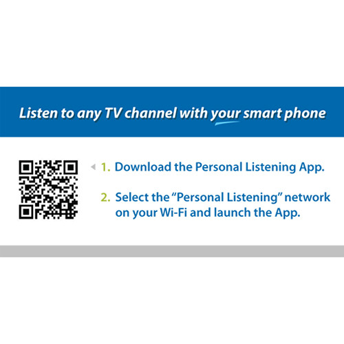 Listen Technologies ListenWifi Cardio Machine Labels (50-Pack)
