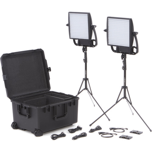 Litepanels Astra 1x1 Bi-Color LED Traveler Duo Gold Mount Kit