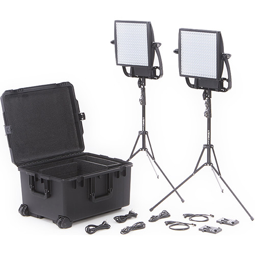 Litepanels Astra 3X Traveler Bi-Color Duo 2-Light Kit with V-Mount Battery Brackets
