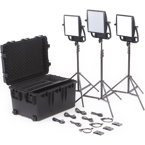 Litepanels Astra Bi-Color LED Traveler Trio Kit (Gold Mount)