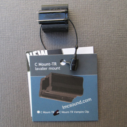LMC Sound C Mount-TR with Vampire Clip for Tram TR50, Sonotrim and Oscar Tech 801/802 (Black)