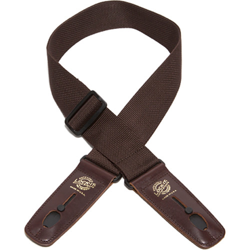 "Lock-It 2"" Professional Gig Series Guitar Strap (Brown, Brown Ends)"