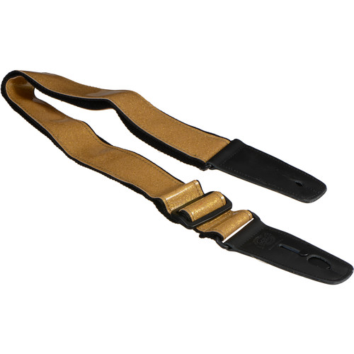 "Lock-It 2"" Glitter Guitar Strap (Gold)"