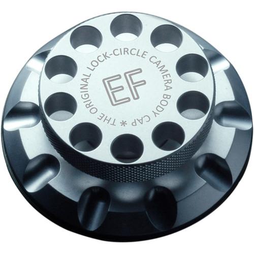 LOCKCIRCLE Camera Body Cap for Canon EF Mount (Silver)