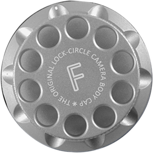 LOCKCIRCLE Camera Body Cap for Nikon F Mount (Silver)