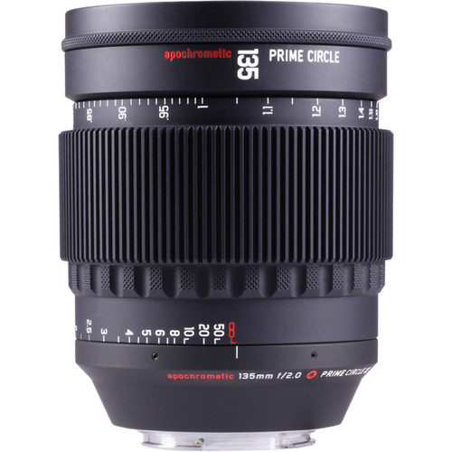 LockCircle PrimeCircle XE Series Canon EF Mount 135mm f/2.0 Apochromatic Lens (Metric Markings)