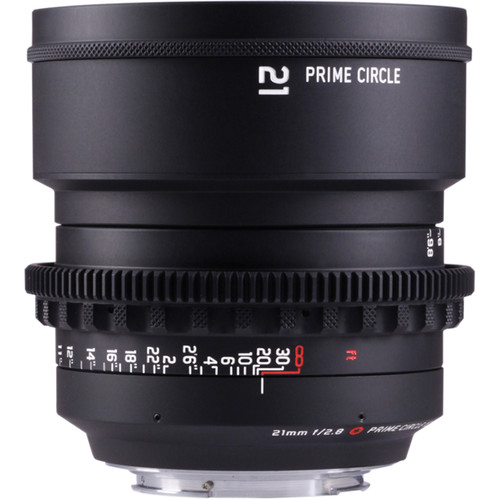 LOCKCIRCLE PrimeCircle XE Series Canon EF Mount 21mm f/2.8 Lens (Metric Markings)