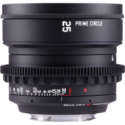 LOCKCIRCLE PrimeCircle XE Series Canon EF Mount 25mm f/2.0 Lens (Metric Markings)