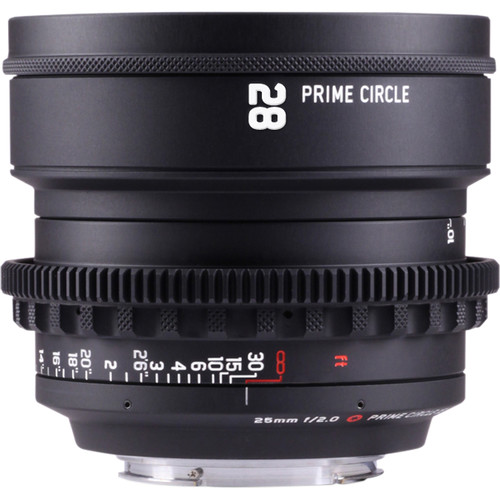LOCKCIRCLE PrimeCircle XE Series Canon EF Mount 28mm f/2.0 Lens (Metric Markings)