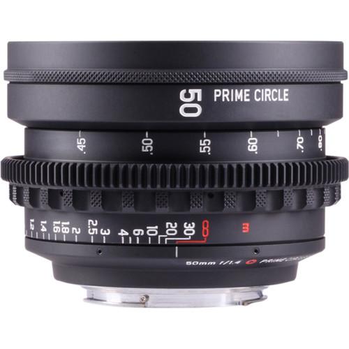 LockCircle PrimeCircle XE Series Canon EF Mount 50mm f/1.4 Super Speed Lens (Metric Markings)
