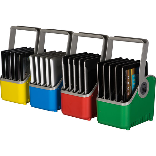 LocknCharge Small 5-Slot Plastic Device Basket - Set Of 4