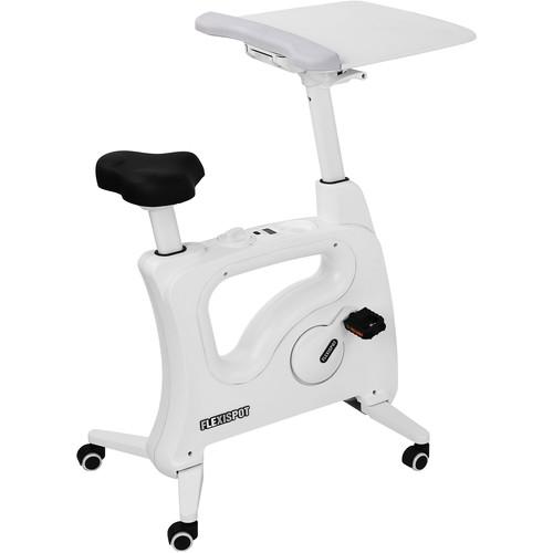 Loctek Flexispot V9 Desk Exercise Bike (White))