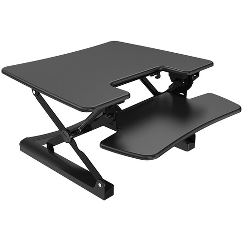 "Loctek 30"" Sit-Stand Riser (Black)"