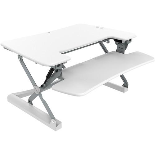 "Loctek LXR36 36"" Two-Tier Sit-Stand Riser (White)"