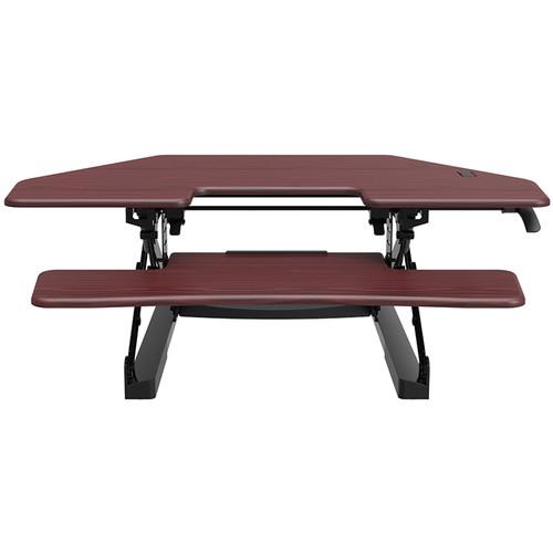 "Loctek 41"" Sit-Stand Riser (Mahogany)"
