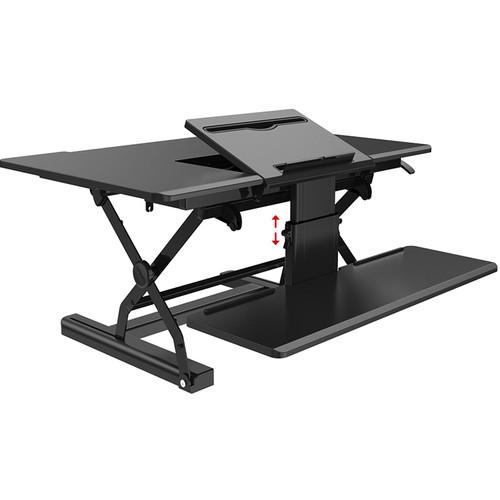 "Loctek 36"" Sit-Stand Riser (Black)"