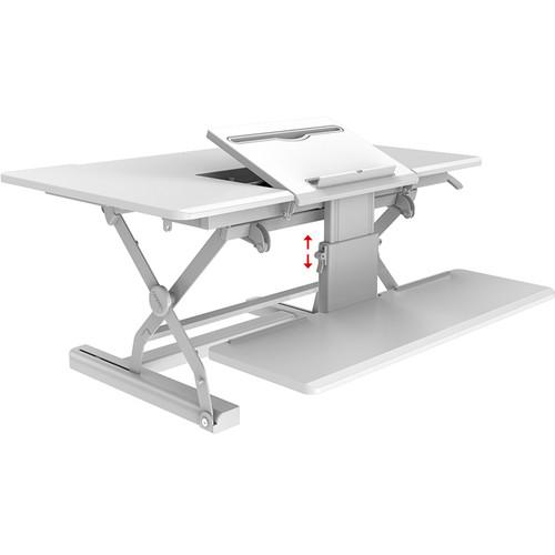 "Loctek 36"" Sit-Stand Riser (White)"