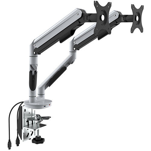 Loctek Q7D Dual Monitor Arm White