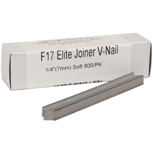 "Logan Graphics F17 Elite Joiner V-Nail for Soft Wood (1/4"", 800-Pack)"