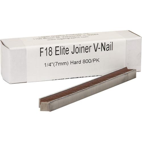 "Logan Graphics F18 Elite Joiner V-Nail for Hard Wood (1/4"", 800-Pack)"