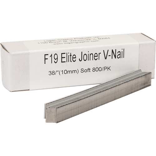"Logan Graphics F19 Elite Joiner V-Nail for Soft Wood (3/8"", 800-Pack)"