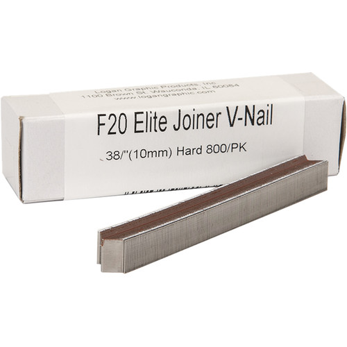 "Logan Graphics F20 Elite Joiner V-Nail for Hard Wood (3/8"", 800-Pack)"
