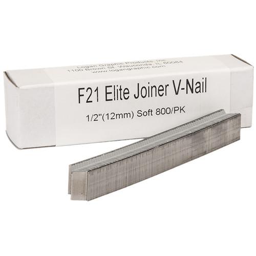"Logan Graphics F21 Elite Joiner V-Nail for Soft Wood (1/2"", 800-Pack)"