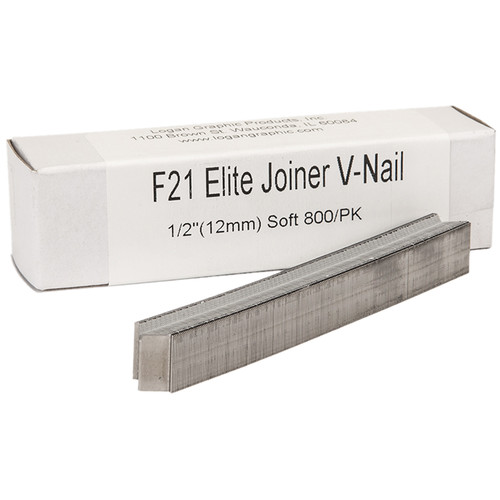 "Logan Graphics F21 Elite Joiner V-Nail for Soft Wood (1/2"", 800-Pack)"