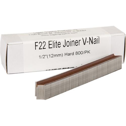 "Logan Graphics F22 Elite Joiner V-Nail for Hard Wood (1/2"", 800-Pack)"